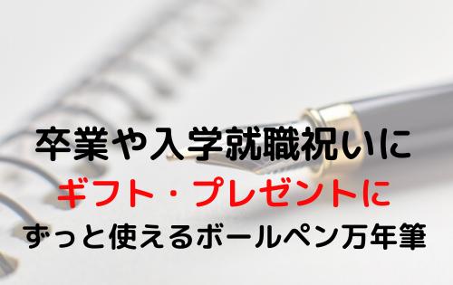 卒業や入学就職祝いにのギフト・プレゼントにも ずっと使えるボールペン万年筆